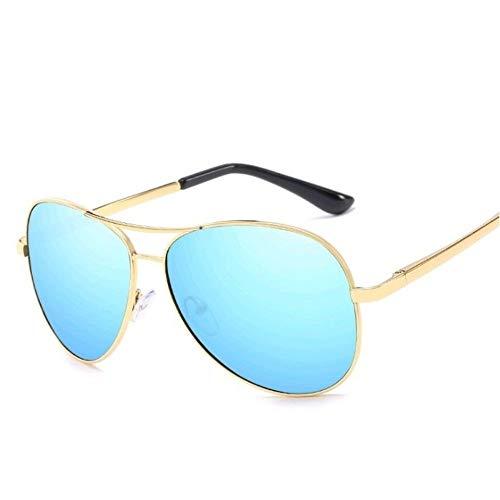 Flyasyanjing Polarisierte Sonnenbrillen Männer Frauen Luftfahrt Treibenden Chameleon Verfärbung Sonnenbrille Schattierungen Designer Helle Und Komfortable Sommer Uv400 Gold-Blau