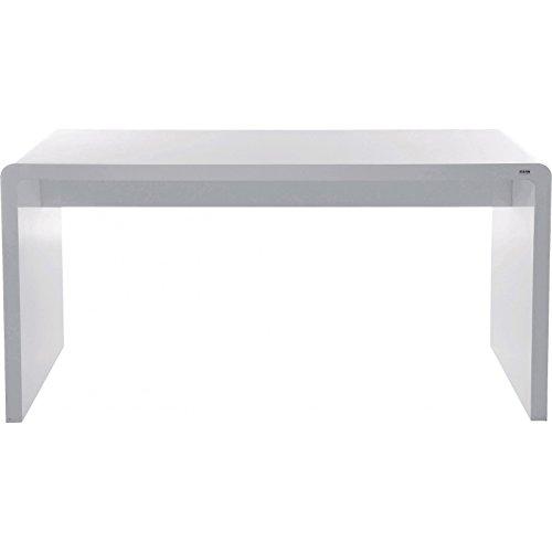 Schreibtischplatte weiß  Kare 74181 Design White Club Schreibtisch 180cm Hochglanz Weiß ...