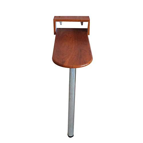 Wandmontierter Drop-Leaf Tisch Einfacher Haushaltsküche-Speisetisch Café-Stehtisch Zum Falten, Rote Holzmaserung (größe : 85x60x80cm) -
