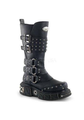 Demonia , bottes homme Noir - PU noir