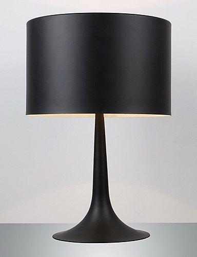 LPZSQ Gentleman Moderne Stehleuchte Black Drum Shade, 220-240V (Rot Lampenschirm Drum)