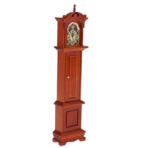 D DOLITY Victoriano Reloj de Pie Péndulo Miniatura Decoraciones de Sala de Estar para Escala 1/12 Casa de Muñecas