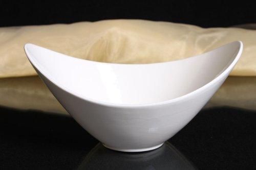 Schale oval Porzellan weiss Schüssel Obstschale Dekorschale Ovale Schale