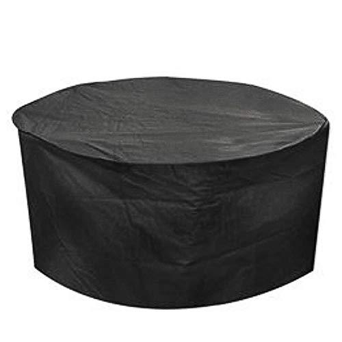 LIXIONG Abdeckung Gartenmöbel Draussen Runden Tabelle Und Stuhl Regen Abdeckung Staubdicht, Garten Balkon 22 Größe Anpassbar (Color : Black, Size : 180x90cm) -