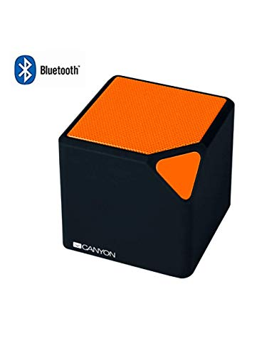 CANYON CNECBTSP2BO Wireless Bluetooth Lautsprecher Ultra Compact Schwarz/Orange -