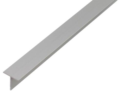 GAH-Alberts 471866 T-Profil - Aluminium, silberfarbig eloxiert, 1000 x 35 x 35 mm