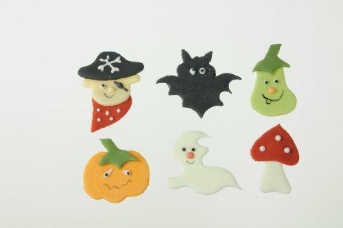 Halloween Zucker-Aufleger, ca. 4 cm, 12 Stück