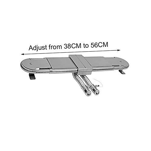 Attachcooking - Repuestos de Barbacoa de Acero Inoxidable Ajustable Universal Quemador de Tubo Rectangular...