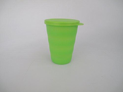 TUPPERWARE Junge Welle Trinkhalmbecher 330 ml grün Trinkhalm Becher