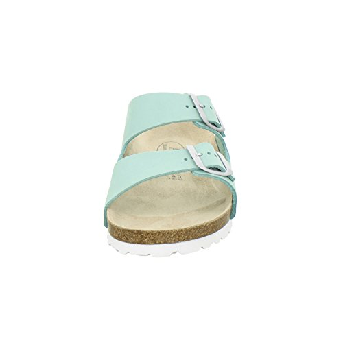 AFS-Schuhe 2100, sportliche Damen-Pantoletten, praktische Arbeitsschuhe, hochwertiges, echtes Leder Mint