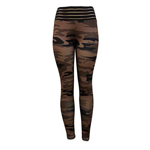fb48157a75 Pantalones De Yoga,Moda Camo Imprimir Pantalones De Yoga De Cintura Alta  Cintura Elástica Push