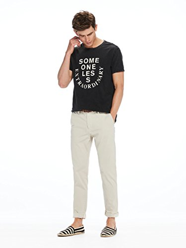 Scotch & Soda Herren Hosen Classic Garment Dyed Chino Pant in Stretch Cotton Quality Steel