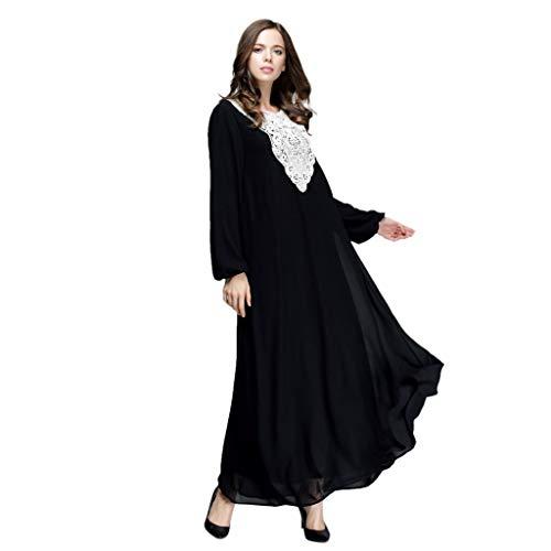 id Islamische Kleidung Muslimische Maxi Kleid Islamische Kleidung Muslimische Kleider Damen Long Maxi Dress Dubai Double Layer Loose Gown Islam Abaya Muslim Clothing Langarm ()