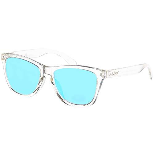 Nebelkind Unisex Suntastic Sonnenbrille Clear Hellblau Verspiegelt One Size