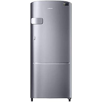 Samsung 192 L 3 Star Direct Cool Single Door Refrigerator(RR20N1Y2ZS8/HL/RR20N2Y2ZS8/NL, Elegant Inox, Base Stand with Drawer, Inverter Compressor)