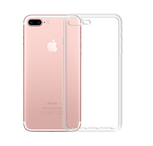 Minto Ultradünn TPU Hülle iPhone 8 Plus / iPhone 7 Plus Silikon Schutzhülle Handyhülle Case Crystal Cover Durchsichtig transparent 0.6mm iPhone 8 Plus