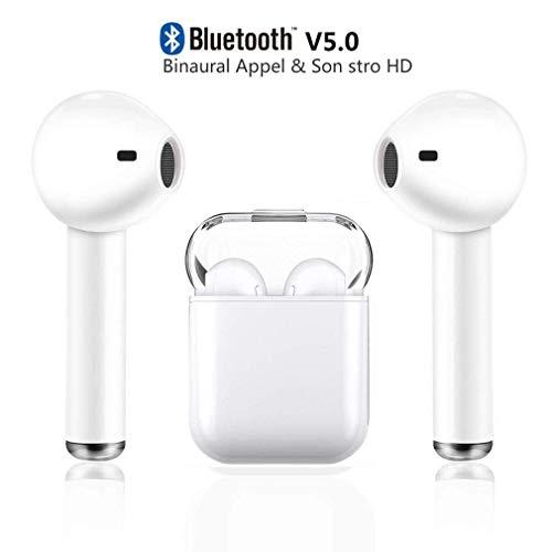 Auricolari Bluetooth 5.0, Cuffie Bluetooth Auricolari Wireless Stereo Senza Fili Sportivi in Ear con Custodia da Ricarica Microfono Leggeri Hi-Fi Cuffie per Samsung iOS Huawei Sony HTC