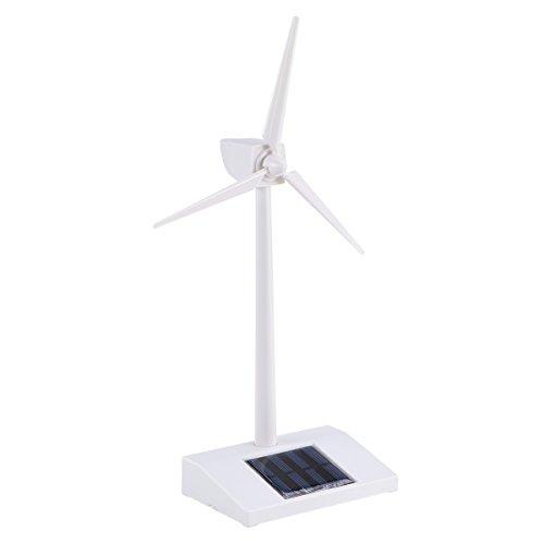 TOYMYTOY Solar Windmühle Spielzeug Miniatur Modell Solar Windkraftanlage Weiß