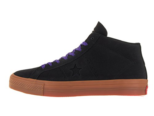 Converse One Star Pro Leather Mid Black/Gum/Candy Grape Black/Gum/Candy Grape