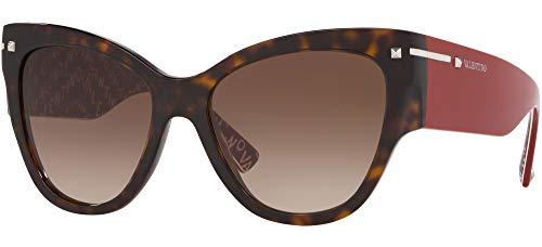 Valentino Sonnenbrillen VA 4028 Havana RED/Brown Shaded Damenbrillen