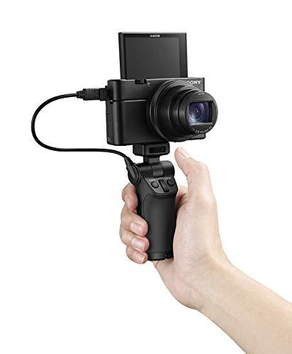Sony DSC-RX100 III Digitalkamera (20.1 Megapixel Exmor R Sensor, 3-fach opt. Zoom, 7,6 cm (3 Zoll) Display, Full HD, WiFi/NFC) + VCT-SGR1 Vlogger-Griff, schwarz