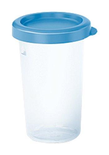 Emsa Frischhaltedose Snap & Close 3D 0,33 L rund, Plastik, blau/transparent, 28 x 28 x 18 cm