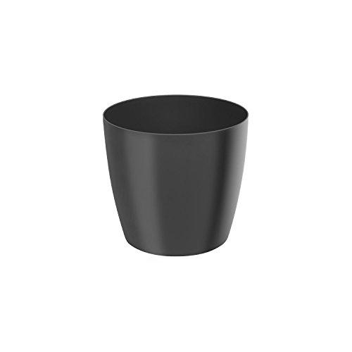 Classique luisant cache-pot LOBELIA, 14 cm, en anthracite