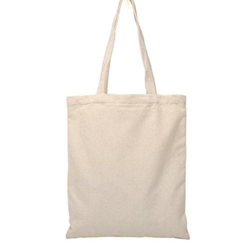 Scrox - Bolsa playa beige Bolsa tela cáñamo algodón