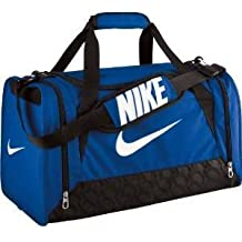 Bolso de lona Nike Brasilia 6 unisex, color Royal Blue/Black/White, tamaño small