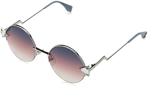 Fendi 0243/s ff tjv 51, occhiali da sole donna, rosa (pink silver/grey fuchsia)