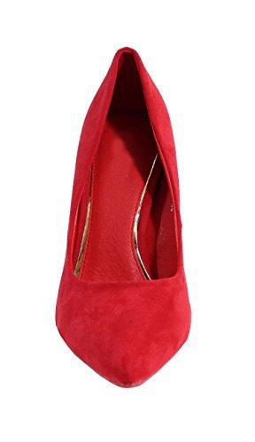 Escarpin Style Suédine - No Name - Spécial Été Rouge