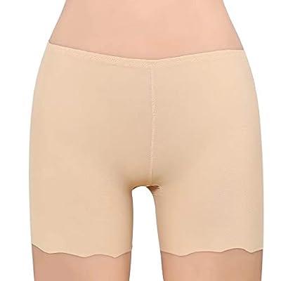 GLAMORAS Women's Invisible Seamless ComfortableBoyshort Panties/Under Skirt Shorts/Cycling Shorts,Free Size