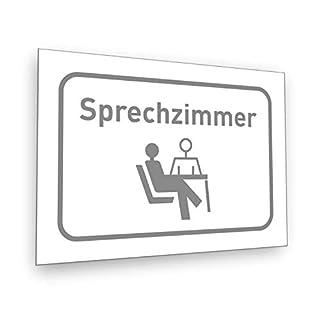 Interfoil Sprechzimmer Schild - Praxis Schild incl. Schaumstoffklebepunkten zur Befestigung geliefert! DIN A5 (14,8 x 21,0 cm)