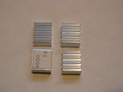 Xbox 360 RAM Kühlkörper (4 Stück) für HANA ANA Southbridge RAM Chips - Upgrade Cooling Repair - Prevent RROD Update-chip