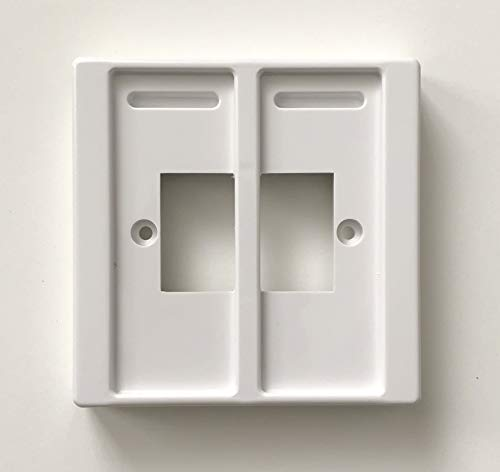 Double, White Philips Hue Dimmer Switch Cover Plate, Injection Moulded