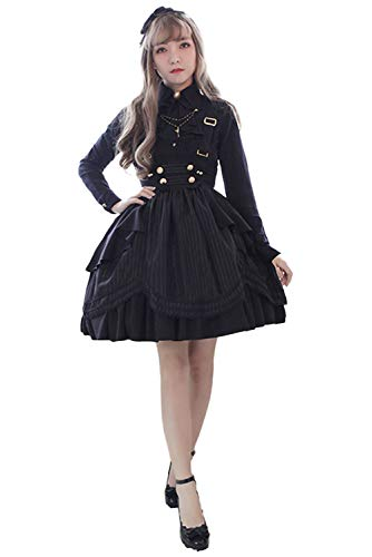 e2d09a18ede Prettycos Black Strap Dresses For Women Medieval Sling Skirt Adjustable  Strap Overall Dress Maid Lol - £16.99