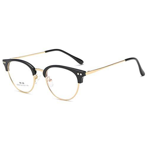 GUKOO Leichtgewicht Brillen metallgestell nicht verschreibungspflichtigen Brillen TR90 Rahmen mit klaren Gläsern für herren Frauen