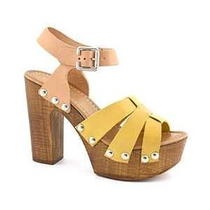 ZR80A GIALLO Scarpa donna sandalo zoccolo plateau Hypnosi Zaira giallo
