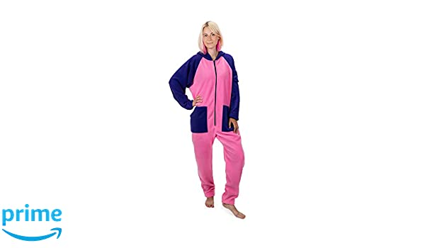 fbfa1be0ea Cotton Candy Go-Jamz  Adult Jumpsuit Fleece Onesie All-in-One Pyjamas for  Adults and Kids in Pink and Purple  Amazon.co.uk  Clothing