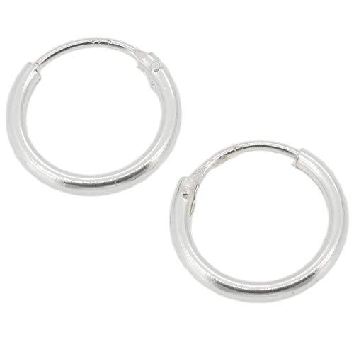 Touch Jewellery - TJ0560 - Orecchini a cerchio semplici in argento puro, 10 mm