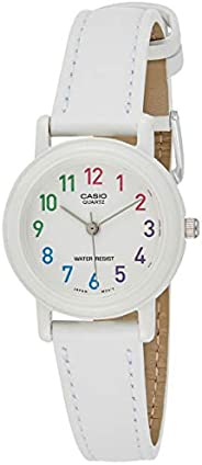 Casio Ladies Girls Women's Classic White Dial Blue Leather Band Watch [LQ-139L-7B] Water resis