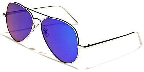 Aviator Sonnenbrillen Fashion Modus Stadt Strand Motorradfahren Radsport/Costa Blau Violett Iridium Flat Lens