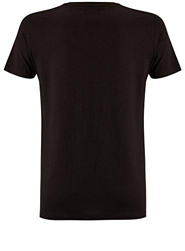 "oodji Ultra Uomo T-Shirt con Stampa ""Torre Eiffel"" Nero (2910P)"
