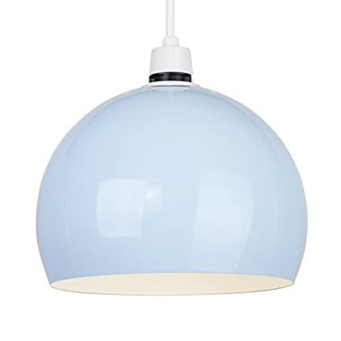 MiniSun - Mini Retro Gloss Pale Blue Arco Style Dome Ceiling Pendant Light Shade