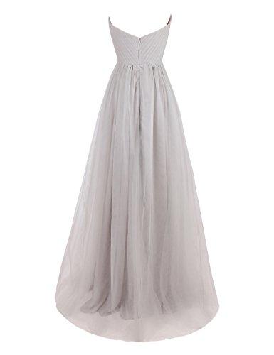 Dresstells, Robe de soirée sans bretelles col en cœur, robe de cérémonie, robe longue de demoiselle d'honneur Lavande