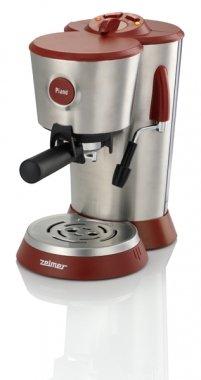 Zelmer Piano 13Z014 Libera installazione Macchina per espresso 1.2L 2tazze Rosso, Acciaio inossidabile