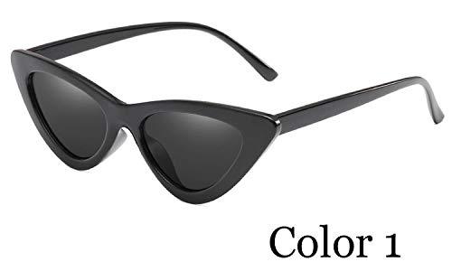 TJJQT Sonnenbrillen Flat Top Cat Eye Frauen Sonnenbrillen Farbverlauf Sonnenbrille Shades Female Sunglass