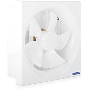Luminous Vento Deluxe 250mm Exhaust Fan for Home, Office, Kitchen and Bathroom (14 inches, White/Black)