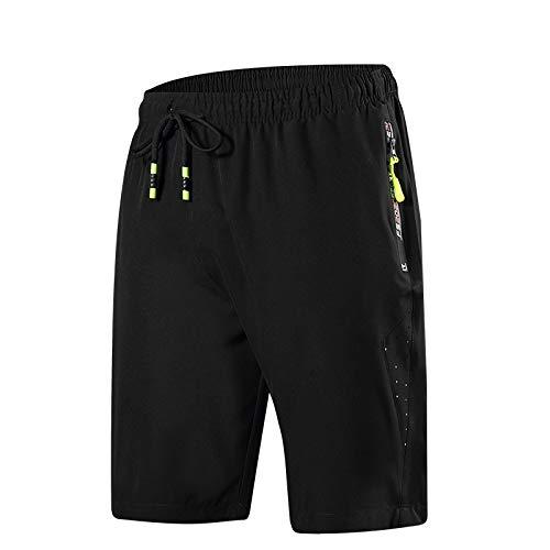 Ozon Bib (CHLCH Herren Sport Shorts Jogginghose KordelzugEinfarbig dünn fluoreszierend grün XXL)