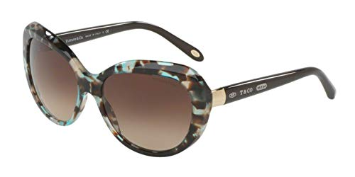Tiffany & Co. Damen 0TY4122 82153B 56 Sonnenbrille, Blau (Brown Havana Spotted Opal Bluee/Browngradient),